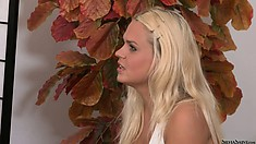 Petite blonde hottie takes her fine body to the casting couch