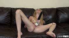 Tiffany Fox is a hot blonde with cute tits and wild sexual appetites to satisfy