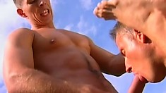 Ken Spencer and Andreas Harris deeply pound David Speakman's anal hole