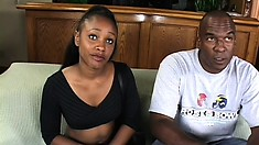 naughty black bitch gets that booty checked out by her homie