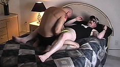 Horny gay daddies pull down their speedos for nasty rimjobs and ass fucking
