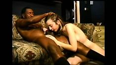 Kelly Wells loves interracial fucking, he cums deep in her ass