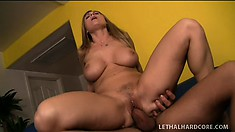 Chubby MILF Devon Lee gets her fine pussy pounded by a big dick