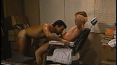 He always gives them a good shave before fucking them hard and deep