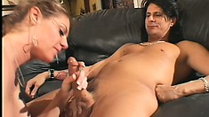 Big tit Milf gets herself a young buck to bang at her hungry fuck hole