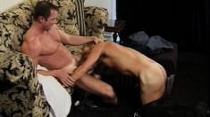 Classy dudes show off their nasty sides in a hardcore anal scene