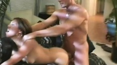 Huge meaty member can barely fit inside Jade Marcela's tight twat