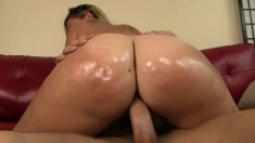 Sensual blonde Briella exposes her curvy body and gets drilled deep