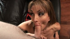 Busty MILF Sofia moans with joy as her tight pussy gets taken